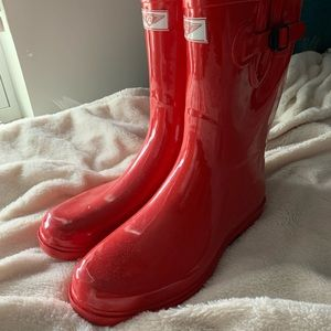 Red Forever Young Rainboots